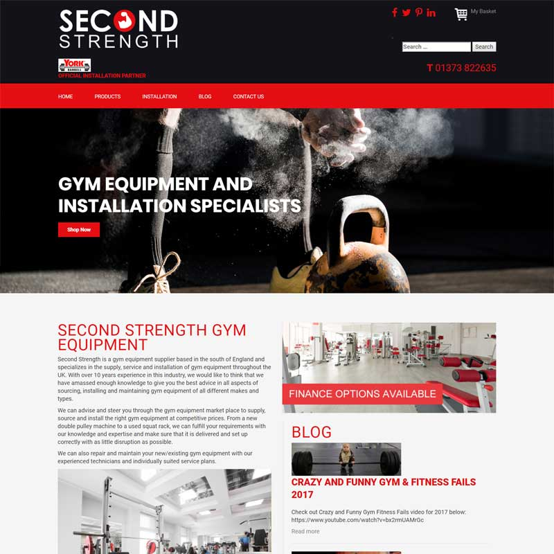 Web Design Work Portfolio, Web Design Agency Bath, London, Second Strength website