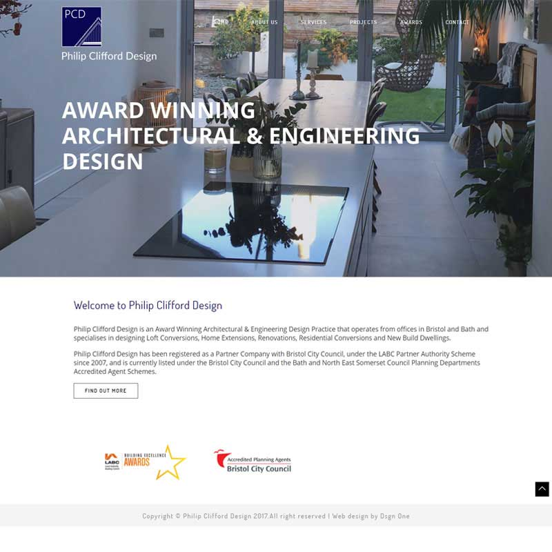 Web Design Work Portfolio, Web Design Agency Bath, London, Philip Clifford Design website