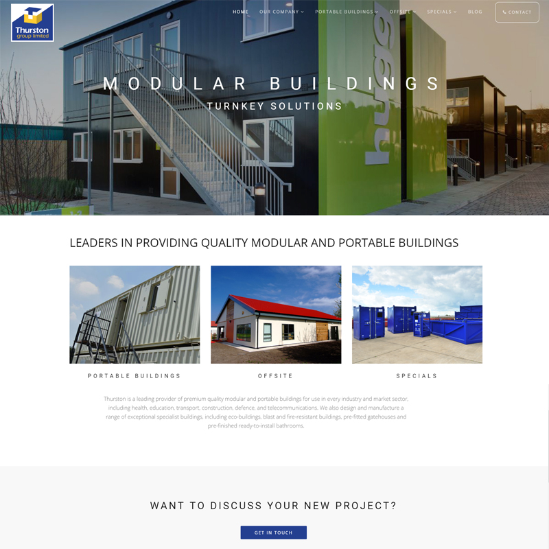 Web Design Work Portfolio, Web Design Agency Aldershot, Thurston Group website